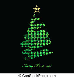 Merry Christmas card with christmas - Vector Merry Christmas...