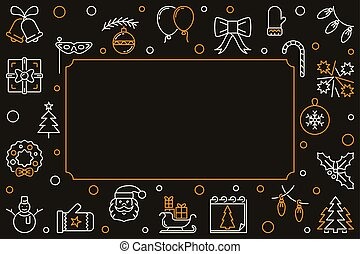 Vector Merry Christmas creative horizontal background