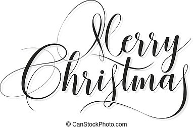 vector Merry Christmas elegant text - Merry Christmas text...