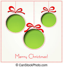 Vector Merry Christmas Paper greeting card