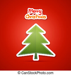 Vector Merry Christmas Red Background