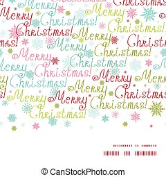Vector merry christmas text horizontal frame seamless pattern background