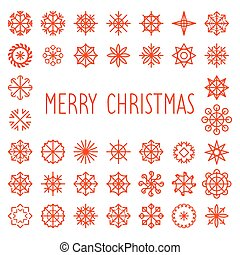 Vector Merry Christmas text with snowflakes frame. New Year greeting card. Nativity texture.
