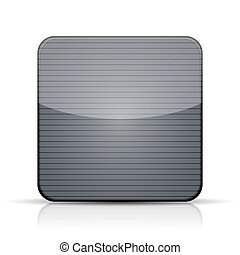 Vector metal app icon on white background. Eps 10