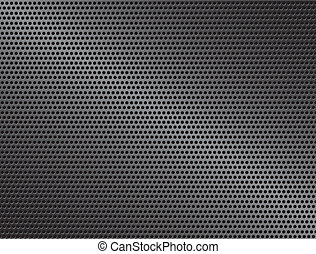 Vector metal background with circle and reflection