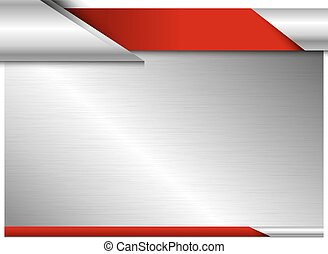 Vector metal board design with copy space on white background