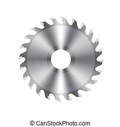 Vector Metal Circular Saw Icon