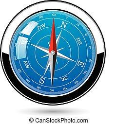 vector metal compass