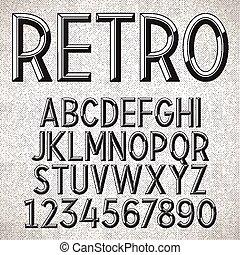 Vector Metal Embossed Font