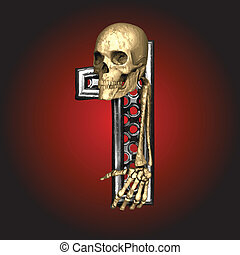 Vector Metal figure with skeleton