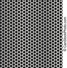Vector Metal Grill Seamless Pattern