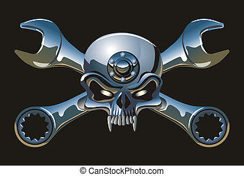 Vector metall Jolly Roger Available EPS-8 vector format separated by groups and layers for easy edit