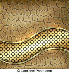 Vector metallic gold leather decorative background