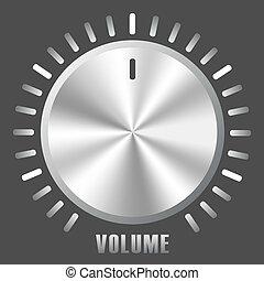 Vector metallic volume control knob