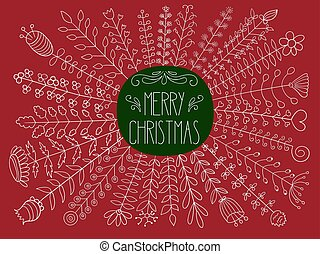 Vector Mewrry christmas Greetings