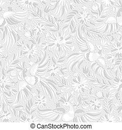 vector Mexican white embroidery seamless pattern
