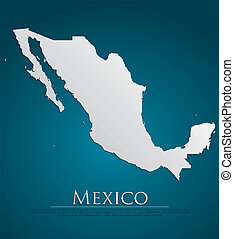 vector Mexico Map card paper