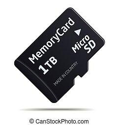 vector Micro SD memory card