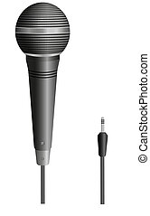 Vector microphone for your design. Illustration