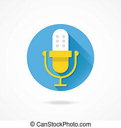 Vector Microphone or Audio Recording Icon