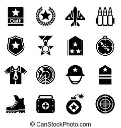 Vector Military icon set