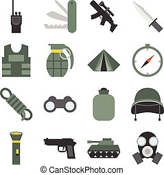 Vector military icons set