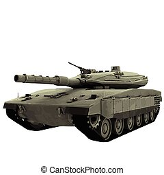 Vector military tank illustration