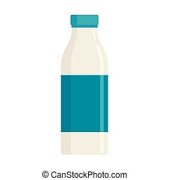 Vector Milk in flat style isolated on white