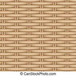 vector, mimbre, basket., seamless, textura