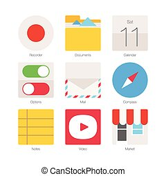 Vector Minimal Flat Icons Set 3