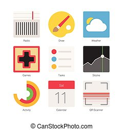 Vector Minimal Flat Icons Set 4