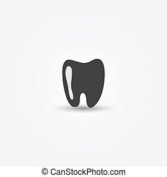 Vector minimal tooth icon