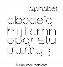 Vector minimalist alphabet.