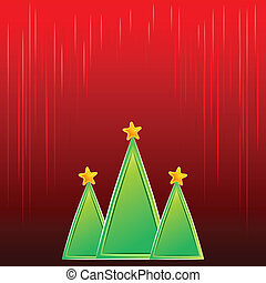 vector minimalist christmas background with christmas trees
