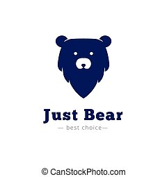 Vector minimalistic bear head logo.