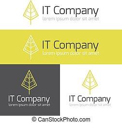Vector minimalistic it or design studio logo