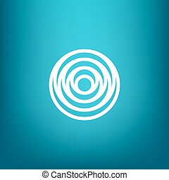 Vector Minimalistic Linear Water Ripple Circles Concentric Round Shape Logo in a Simple Modern Style Sign