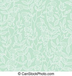 Vector mint green floral texture seamless pattern graphic...