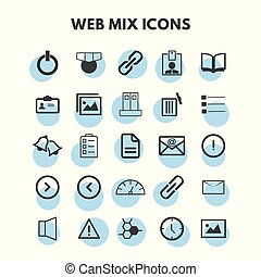 Vector Mix icons set