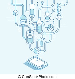 Vector mobile app development concept