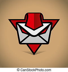 Vector mobile message - Identity corporate logo Isolated on...