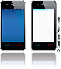 Vector mobile phone - Modern mobile phones set. Vector...