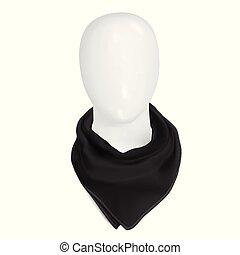 Black bandana on the neck
