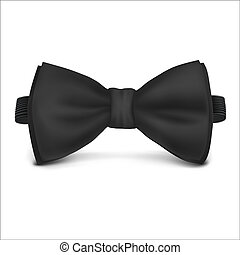 Vector. Mock Up. Black Bow Tie