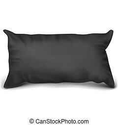 ?????? - Vector. Mock Up. Black Pillow Rectangle