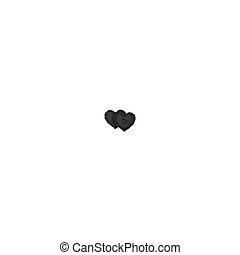 Vector. Mock Up. Black Set Pillow Heart
