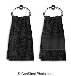 Vector. Mock Up. Black Towel