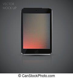 Vector mock up tablet computer for your design. illustration of