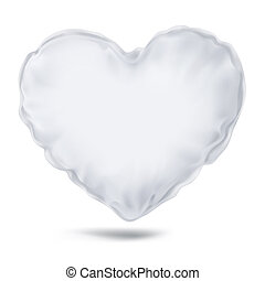 Vector. Mock Up. White Pillow Heart