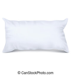 Vector. Mock Up. White Pillow Rectangle